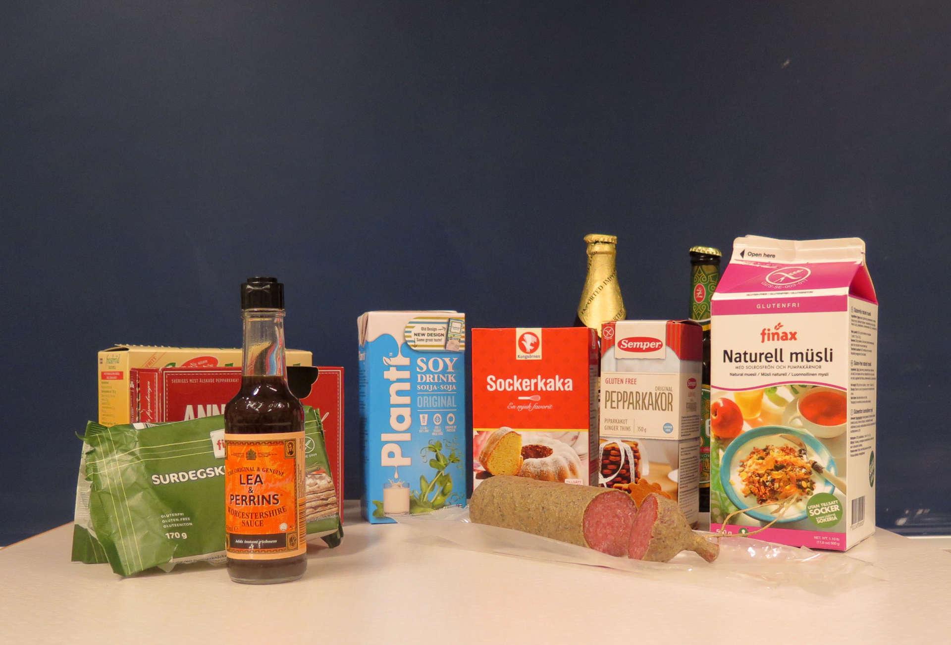 Innehåller matvarorna gluten? Foto: Bioresurs.